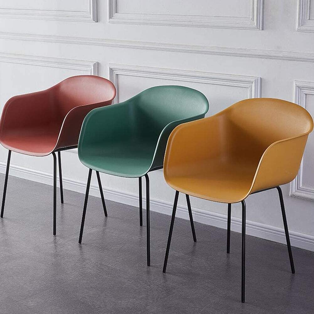 DALL Chaise De Salle À Manger Moderne Chaise De Table Dossier Siège en Plastique Chaise De Canapé Armature en Métal Chaise De Réception Antidérapant Assemblée (Color : Blue) Red