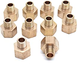 Sydien Brass Pipe Reducer Adapter Male to Female Adaptor Fitting,1/8