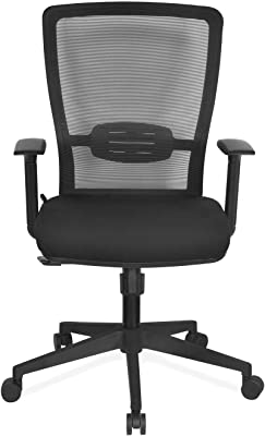 Nilkamal Kevin Mid Back Office Chair, Black