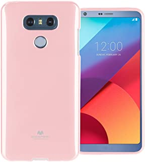 Mercury Pearl Jelly for LG G6 Case with Screen Protector Slim Thin Rubber Case (Pink) LGG6-JEL/SP-PNK