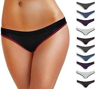 Emprella Women Underwear, 10 Pack Womens Cotton Stretch Bikini Panties for Ladies