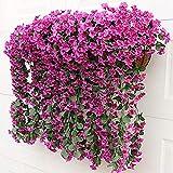 SLJHUA Flores Artificiales Flores Artificiales Exterior Decoración del Hogar La Flor...