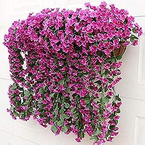 SLJHUA Flores Artificiales Flores Artificiales Exterior Decoración del Hogar La Flor Fiesta Planta Simulación La Boda 2…