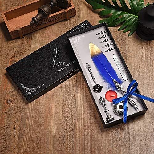 L.J.JZDY vulpen vulpen Engels kalligrafie veren pen schrijven kaars Lak veren pen set geschenkdoos voor bruiloft handschrift