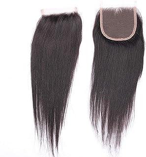 YESONEEP 自由な部分レース前頭閉鎖ストレートブラジルの人間の髪の毛4