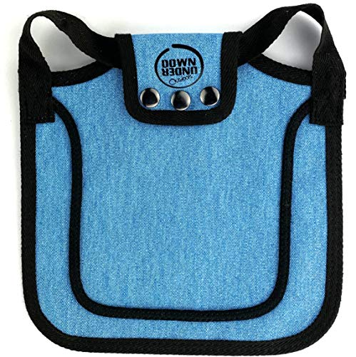 DOWN UNDER OUTDOORS Premium Chicken Saddle with Adjustable Straps to Suit Small, Medium and Large Hens, Poultry Saver, Protector, Apron, Supplies, Care Accessories, Products and Equipment (Blue)