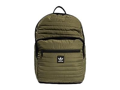 adidas Originals Originals Quilted Trefoil Backpack (Olive Cargo) Backpack Bags