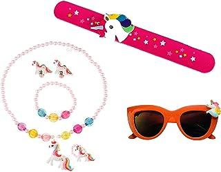 Sanjis Enterprise combo of 3: unicorn kid's jewellery set  unicorn sunglass  unicorn slap band birthday Return Gift for Ki...