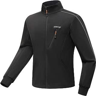 Wantdo Mens Waterproof Fleece Jacket Running Jacket Windproof Thicken Warm Coat