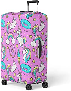 Hand Drawn Gold Anchor Spandex Trolley Case Travel Luggage Protector Suitcase Cover 28.5 X 20.5 Inch