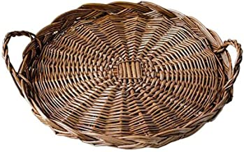 FEIHAIYANYzwl Boite de Rangement, Panier de rotin Basket Panier Panier Paille De Pain Fruit Rotin Plateau De Stockage Lége...