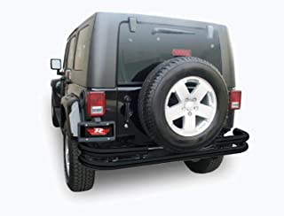 Rampage Products 88648 Textured Black Double Tube Rear Bumper for Products JK for 2007-2018 Jeep Wrangler JK