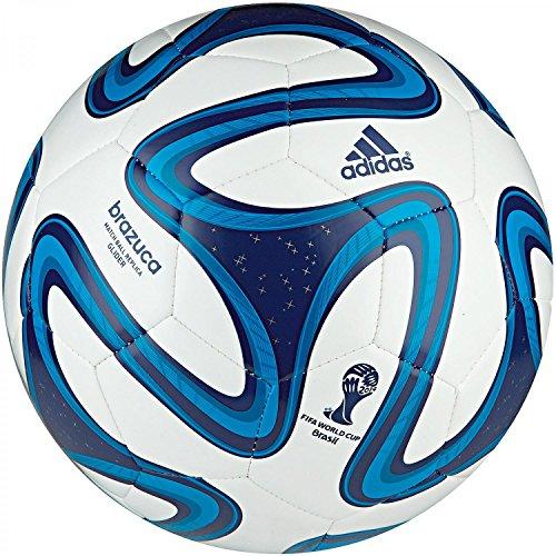 adidas Fußball Brazuca Glider, White/Night Blue/Solar Blue, 5, G73633