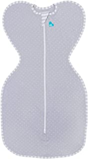 Love To Dream Swaddle UP Lite, Gray Polka Dot, Small, 8-13 lbs, Dramatically Better Sleep, Allow Baby to Sleep in Their Preferred arms up Position for self-Soothing, snug fit Calms Startle Reflex