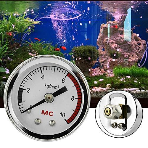 Wosune Generador de dióxido de Carbono, Mesa de presión de Aire, medidor de Aire de CO2 para pecera DIY, Acuario para Peces