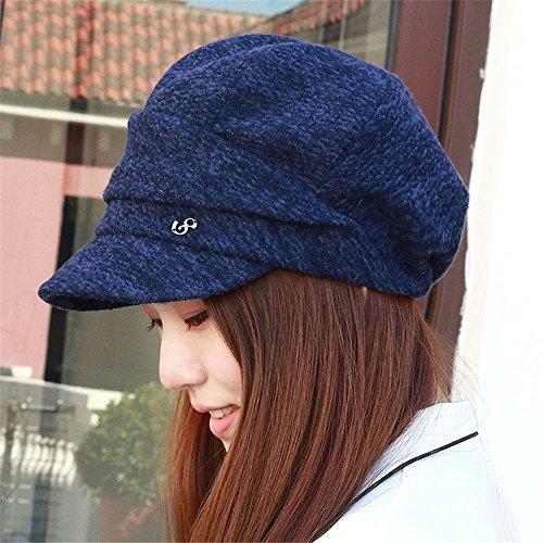 BTBTAV hoed kinderen vrouwen kamgaren Beret Lady winter patroon Thin oudere moeder pet hoed 54-58 cm Fashion Cap hoogtepunt kan niet worden ingesteld