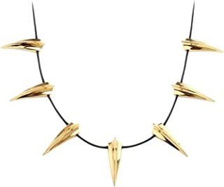 Chic Stainless Steel Necklace for Black Panther Cosplay New Wakanda King T'Challa Pendant Necklace Halloween Party