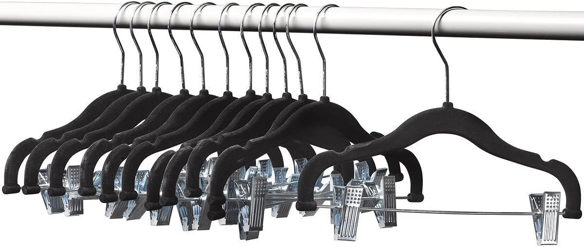 Quantity limited A1 Hangers 12 Pack Kids with Length Ba Black Clips 13