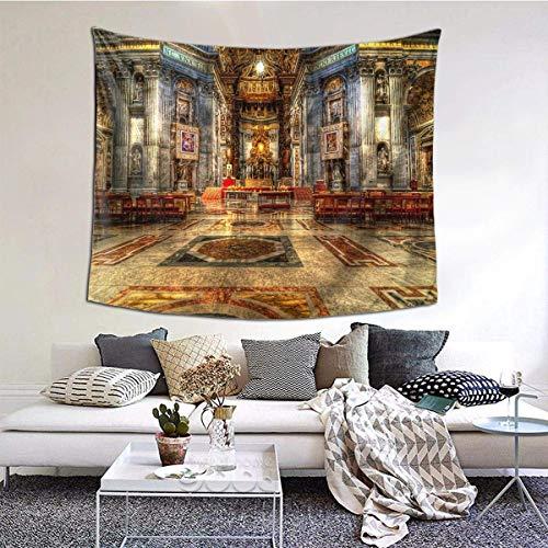 Tapiz de pared ancha de la catedral de San Pedro, tapiz de lujo para colgar en la pared del dormitorio, sala de estar de 152 x 152 cm