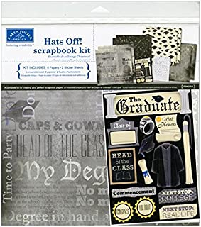 Karen Foster 20521 Design Themed Paper and Stickers Scrapbook Kit, Graduation