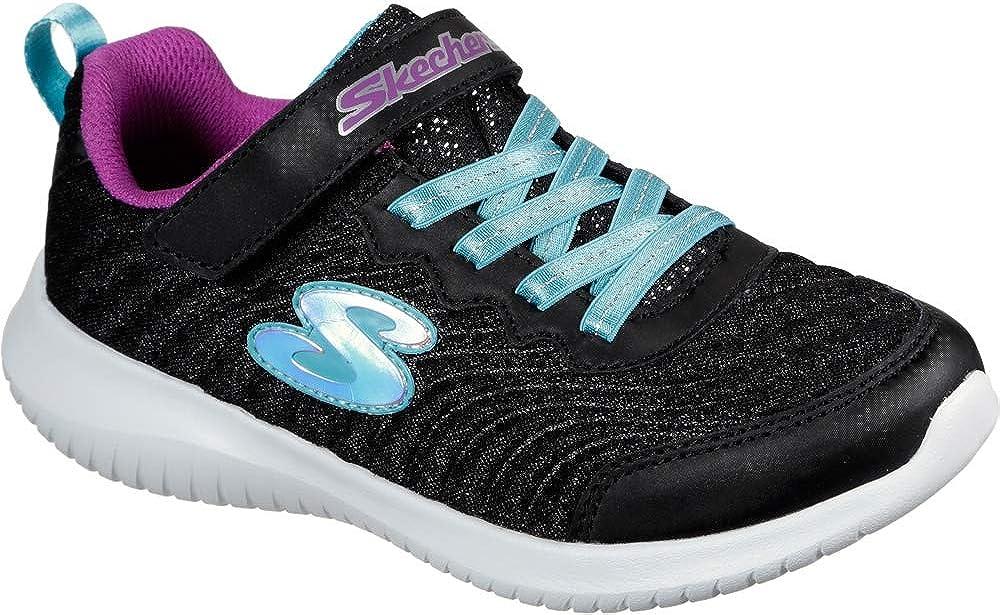Skechers Kid's Ultra Flex in Motion Girls Cross Training Shoes Black/Turquoise