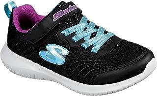 Skechers Kid's Ultra Flex in Motion Girls Cross Training Shoes Black/Turquoise 10.5 Little Kid