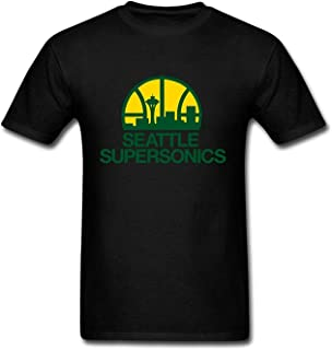 Mens Seattle Supersonics Funny Custom Soft Cotton Short Sleeve T Shirt