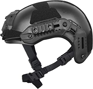 Outry Tactical Helmet, Adjustable ABS Helmet with Side Rails and NVG Mount, Outdoor Protective Helmet for Airsoft Paintball Hunting Shooting Outdoor Sports