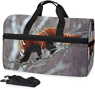 Adorable Red Pandas Gym Bag with Shoes Compartment Sports Swim Travel Overnight Duffels