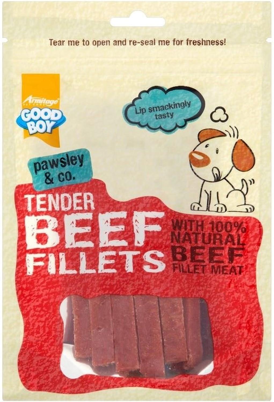 Armitage Good Boy Tender Beef Fillets (90g)  Pack of 6