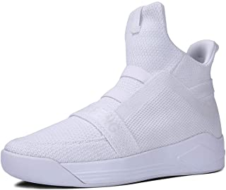 Mens Casual High Top Sneakers Breathable Mesh Knit Ankle Boots Athletic Shoes
