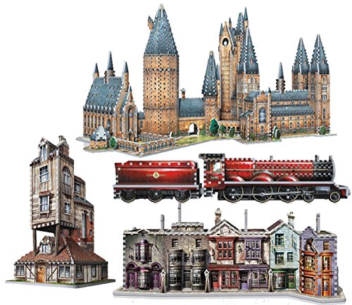 WonderClub Complete Set of All 5 Harry Potter 3D Jigsaw Puzzles Made by Wrebbit 3D