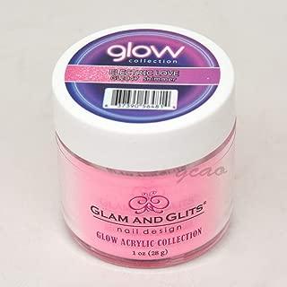 Glam and Glits ACRYLIC Glow in the Dark Dip Powder - Electric Love 2047
