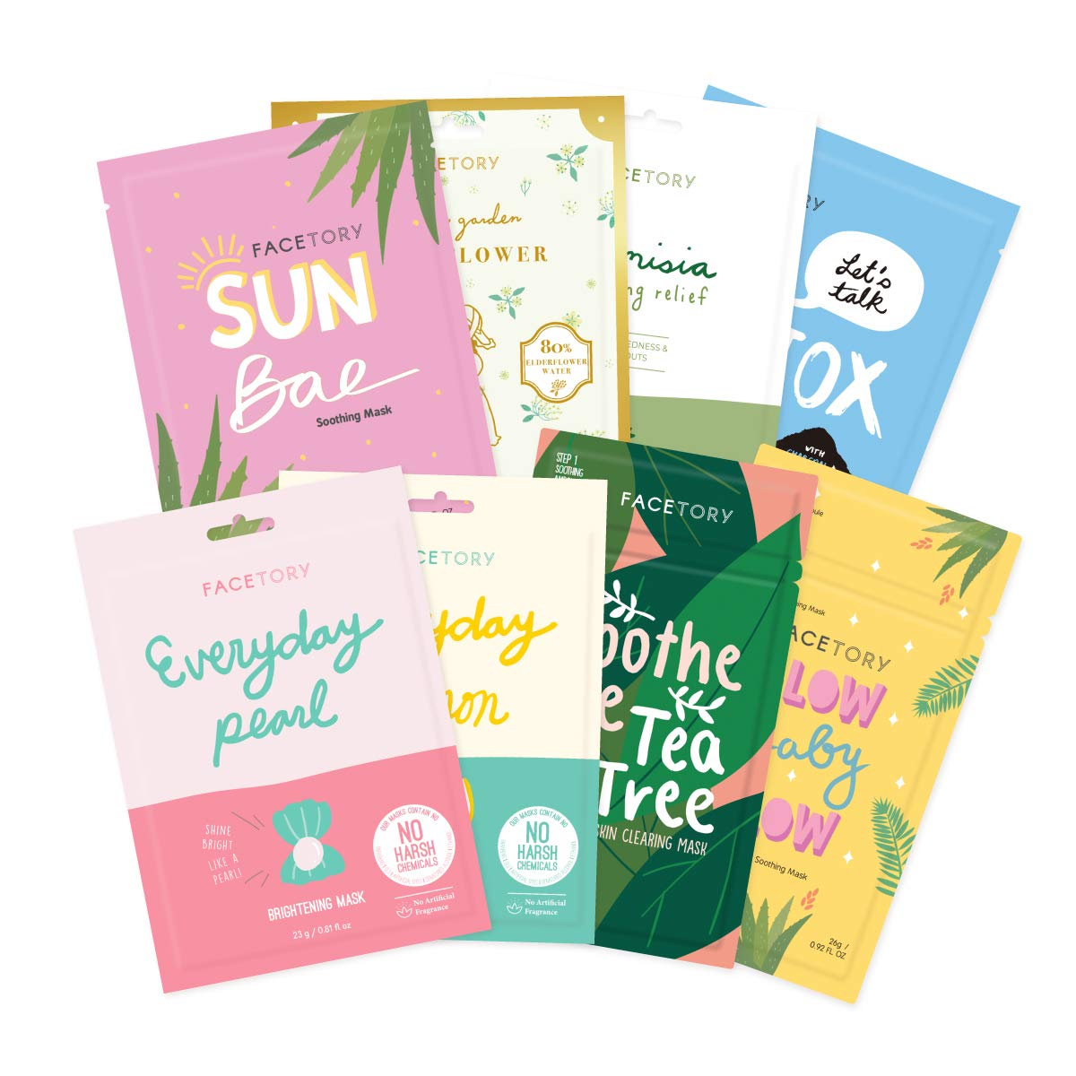 FaceTory Summer New product!! Basics Sheet Mask Masks Calming 8 In stock Bundle
