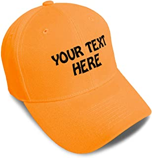 Baseball Cap Custom Personalized Text Dad Hats for Men & Women Strap Closure