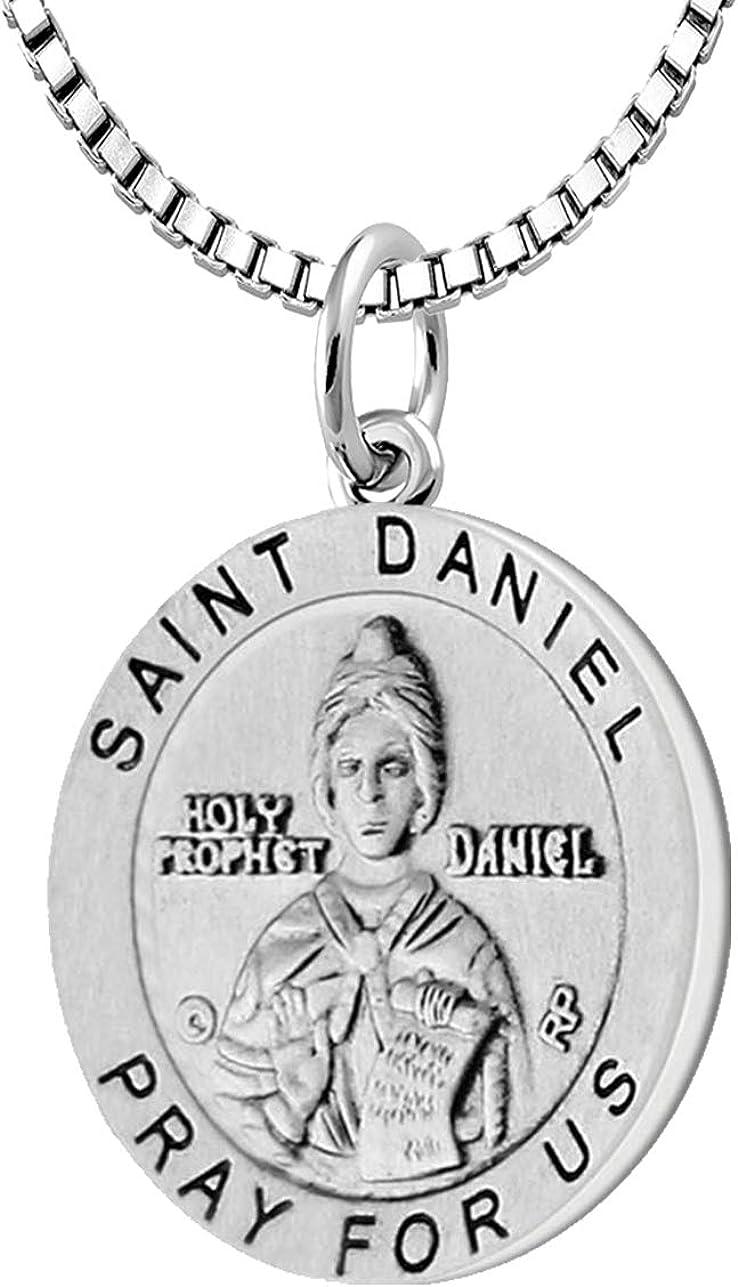 US Jewels Ladies 925 ファッション通販 Sterling 未使用品 Silver Daniel 18.5mm Medal Saint P