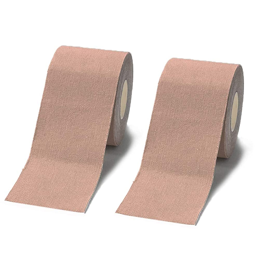 Careboree Sport Tape for Athletes, Water Resistant, Reduce Pain and Injury Recovery, 2 inch X 16.4 Feet, 2 Roll, Skin Color