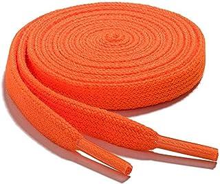 Lacets Orange Fluo 5 mm pour Fussballschuhe 90-120 cm Résistant 899 Laces