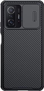 جراب شاومي مي 11T / Mi 11T Pro ، جراب CamShield Pro Series مع غطاء كاميرا منزلق جراب واقٍ أنيق (أسود)