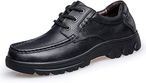 Fuxitoggo Herren Bequeme Mode Wanderschuhe für Vater (Farbe   Schwarz Größe   8.5 UK)