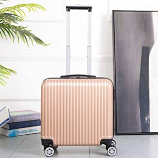 Boarding Case Luggage Zip Code Box Cardan Wheel Mini Travel Gold 18 Inch