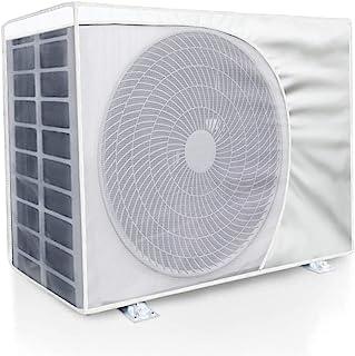 エアコン室外機カバー 節電 省エネ防水 防塵 劣化防止 日焼け止め 取り外し不要 効率アップ 反射断熱エアコンカバー 室外機カバー 日・雨・雪・風 遮熱保護 簡単脱着 (80*32*57一個入り)