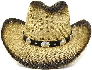 LiWen Zheng Women Men Handmade Weave Straw Cowboy Hats Summer Beach Sun Western Sombrero Hombre Lifeguard Hats