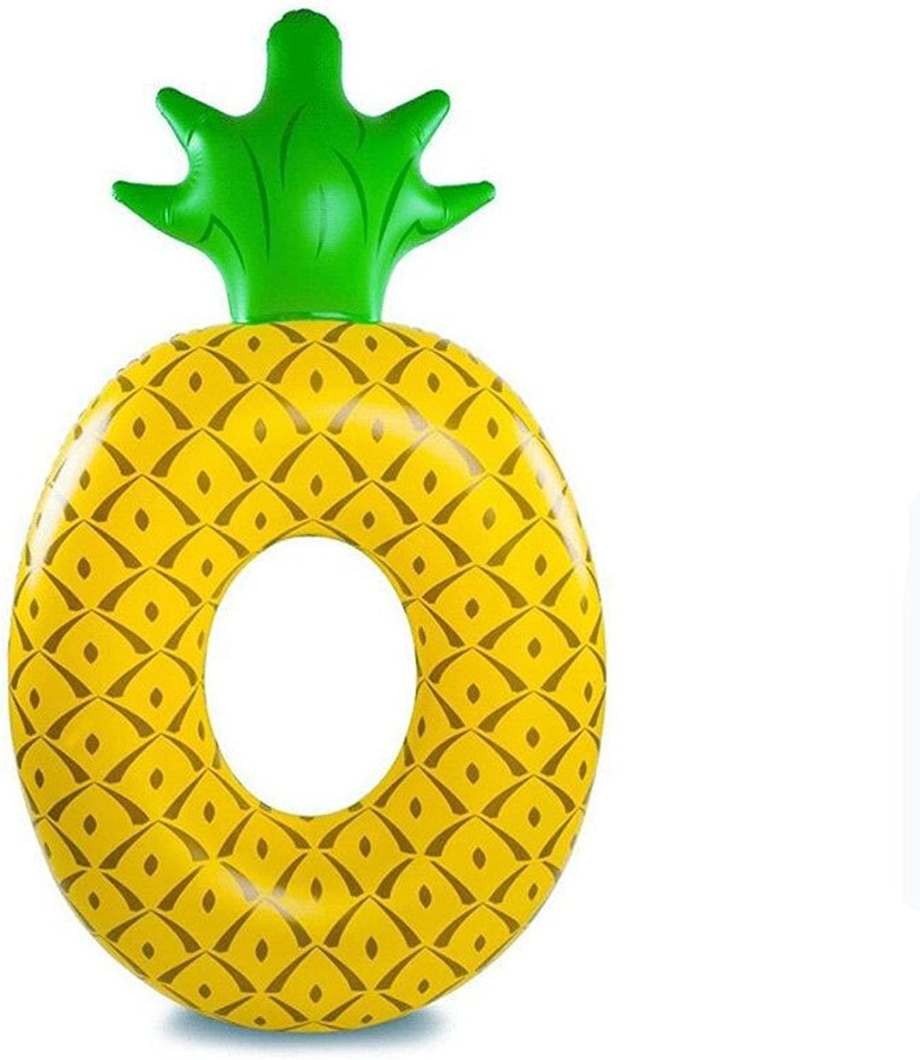 GQQ Big Pineapple Swim Ring Adult Water Floating Row Inflatable Floating Buoy Swim Ring