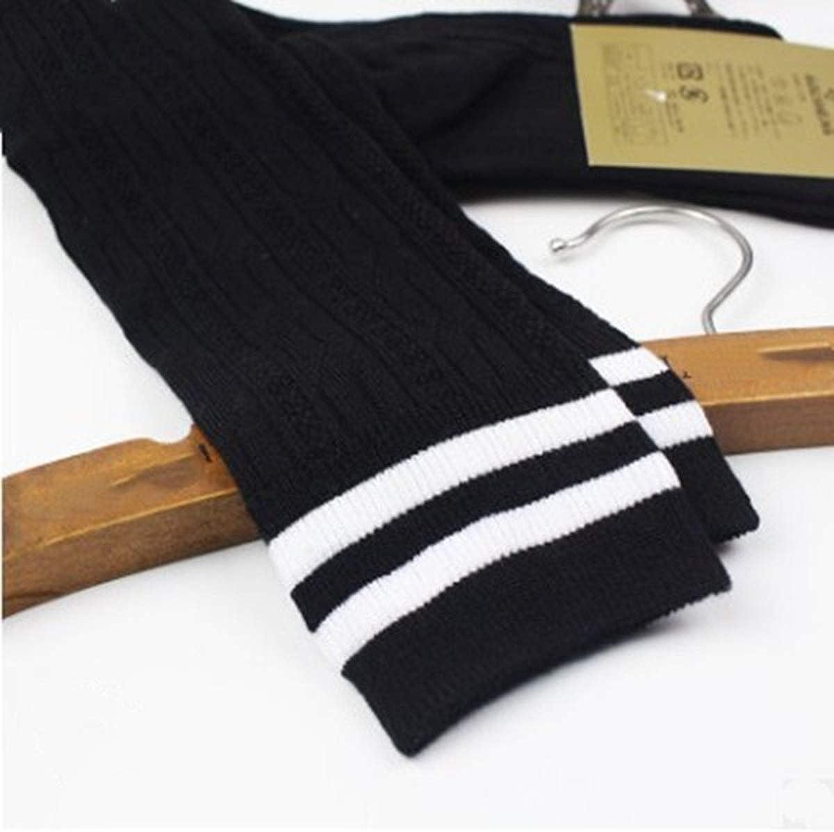 1 Pair Women Over Knee Socks Thigh High Socks Girl Casual Stockings Knit Knee High Leg Warmer
