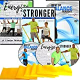 Exercise for Seniors DVD Collection- 6 Total Body Workouts + 10 Balance Workouts + Resistance Band + 3 Bonus Senior Exercise Gifts- Easy to Follow. Fun to do! Exercise videos for seniors you will love