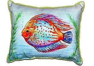 Teal No Cord Pillow 18 x18 Betsy Drake NC606C Betsys Shell