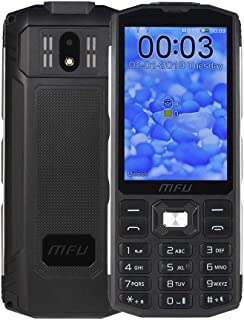 """MFU Easy to Use Cell Phone for Seniors & Kids Unlocked 2G Tri SIM 3 SIM Cards Big Button Large Button Big Volume Large Capacity Power Bank Long-time Standby 3.5"""" Large Screen Super Torch Light-Black"""
