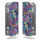 Decal Sticker Skin WRAP Floral Navy Purple Yellow Flowers for Pioneer4you iPV Mini