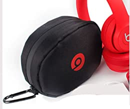 Headphone Case for Beats By Dr Dre SOLO HD with Carabiner clip. Black Foam Padded Headphone case for Wireless Beats SOLO HD (Bea